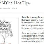 Need to know SEO-6 Hot Tips